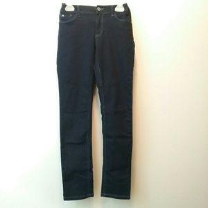 Skinny Jeans Girls 10 Stretch Adjustable Dark Wash